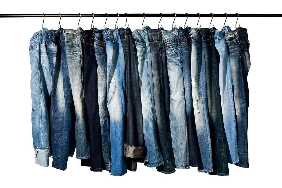 Jeans-Waschungen